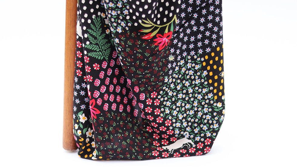 Rayon Voile Floral Patch