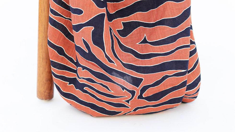 Verona Voile Zebra Rust Navy