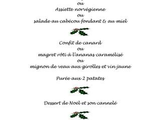 Repas de Noël !