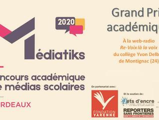 La webradio du collège en pause... après son succès du Grand Prix Médiatiks académique 2020 !