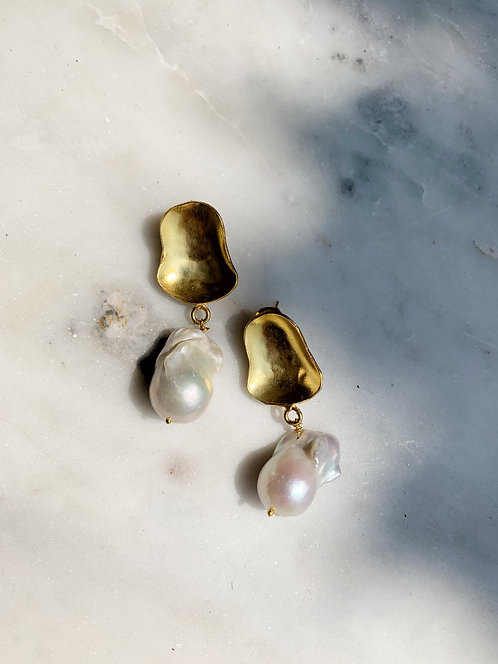 Marlow Pearl Drop Gold