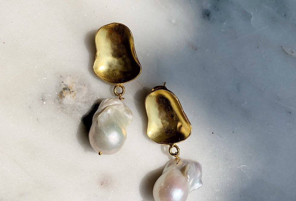 Marlow Pearl Drop Gold
