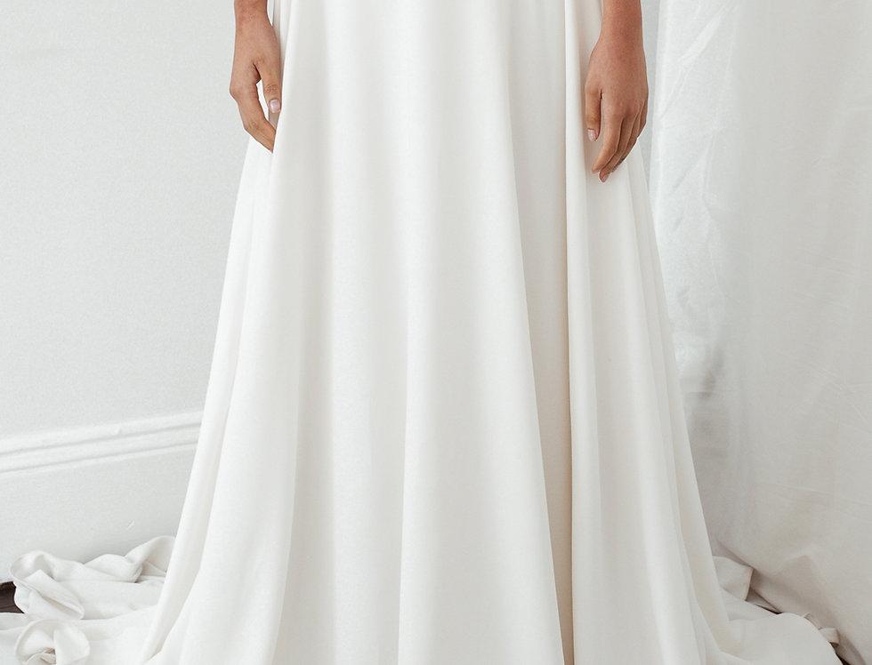 Match Made Bridal Odette Skirt, Bridal Separates, Crepe Bridal skirt, Crepe aline skirt