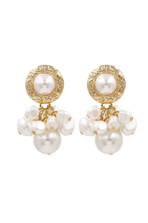 Liberty Pearl Cluster Gold