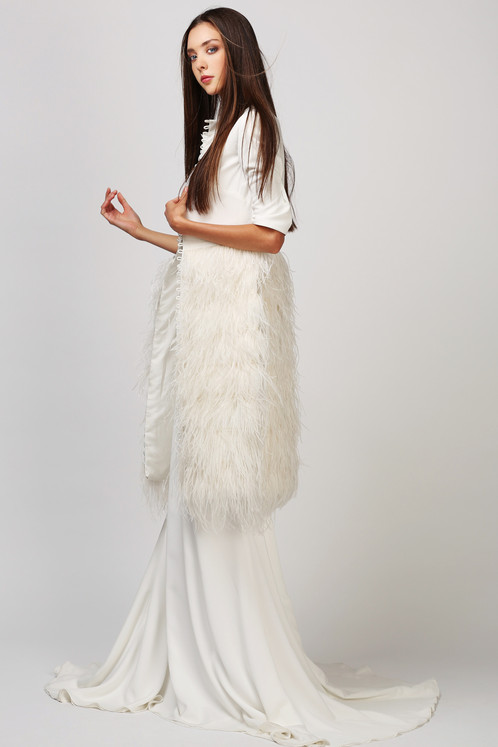For The Editorial Bride This Lord Coat By Love Found True Is A Statement Bridal Perfect Layering On Top Of You Sheath Gown London Glamour