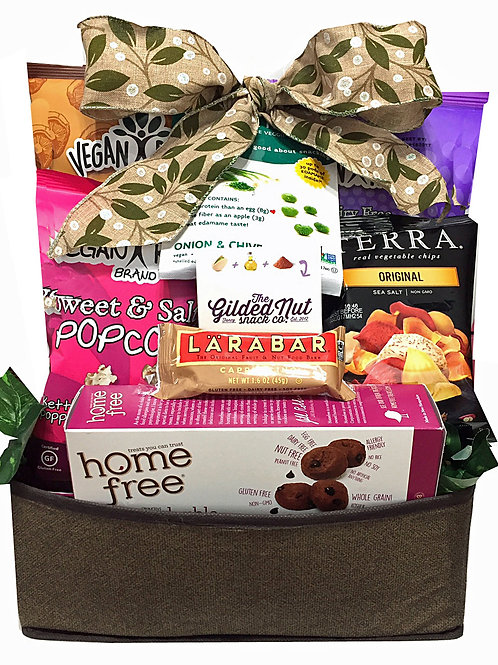 Vegan gluten free snack food gift basket