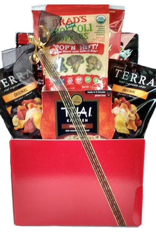 Vegan gluten free gift basket for man