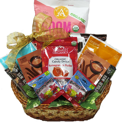 sweet vegan organic basket