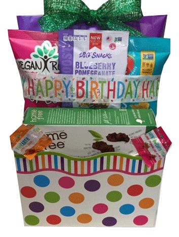 Vegan Birthday Gift Baskets By The Royal Basket Company