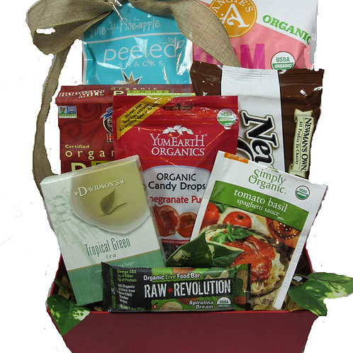 vegan and organic small gift basket