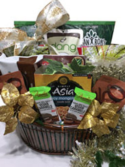 Vegan gluten free gourmet gift basket Christmas