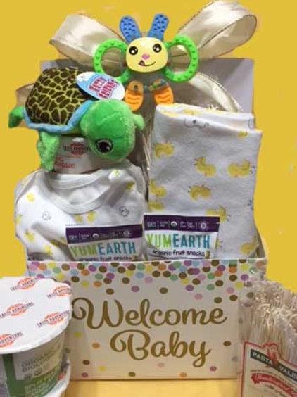 Vegan gluten free welcome baby basket
