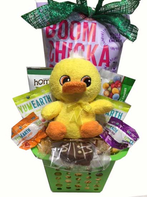 VEgan gluten free Easter gift basket