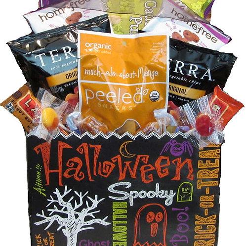 Vegan gluten free Halloween basket