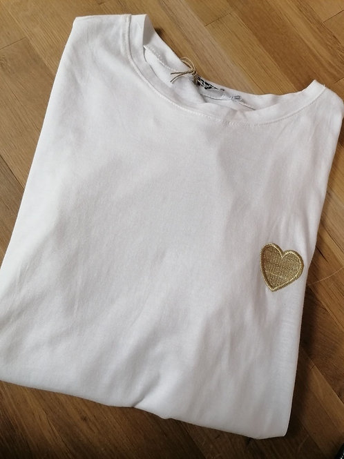 T-Shirt coeur or