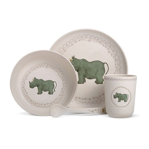 Coffret Vaisselle en Bambou Model Rhinoceros
