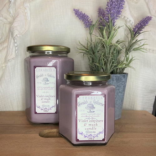 Bougie Cerabella Violette et musc