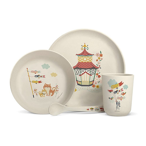 "Coffret vaisselle en bambou ""Tokyo-Pékin"""