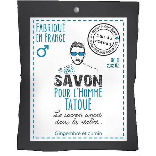 SAVON POUR HOMME TATOUÉ