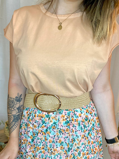T-Shirt Abricot Loose