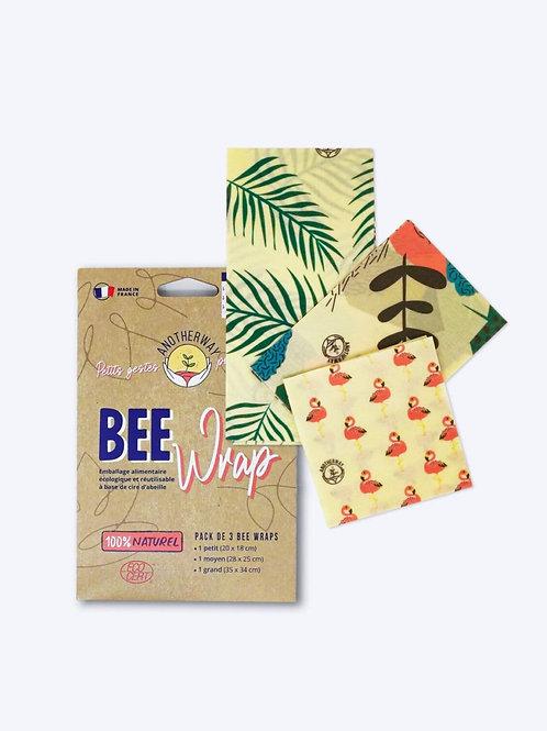 Pack 3 Bee Wraps emballage alimentaire réutilisable