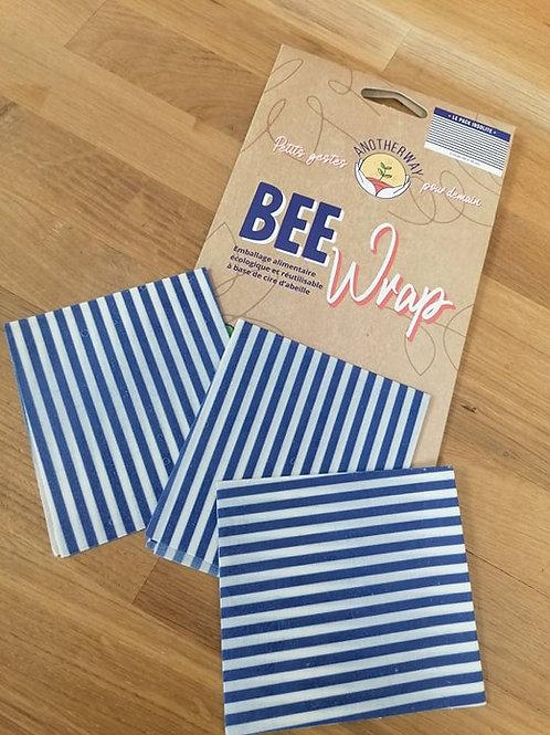 Bee wrap emballage alimentaire réutilisable taille S par 3