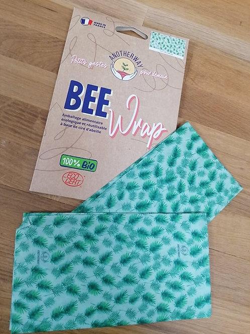 Bee Wrap emballage alimentaire réutilisableTaille L x2