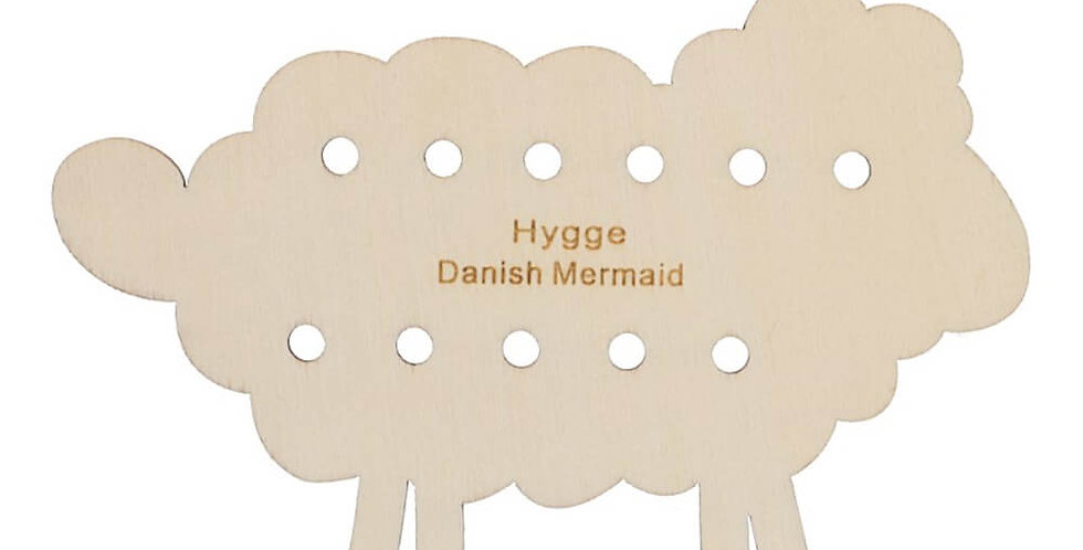 Hygge Project Card - Wooden Sheep