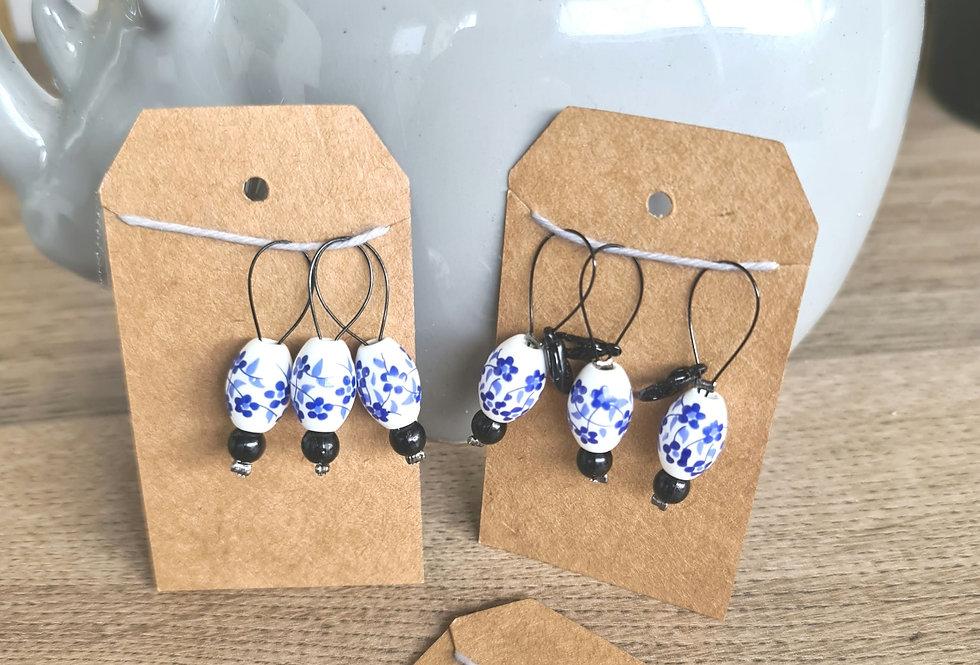 """""""Delfts Blauw"""" L - Stitch Marker"""