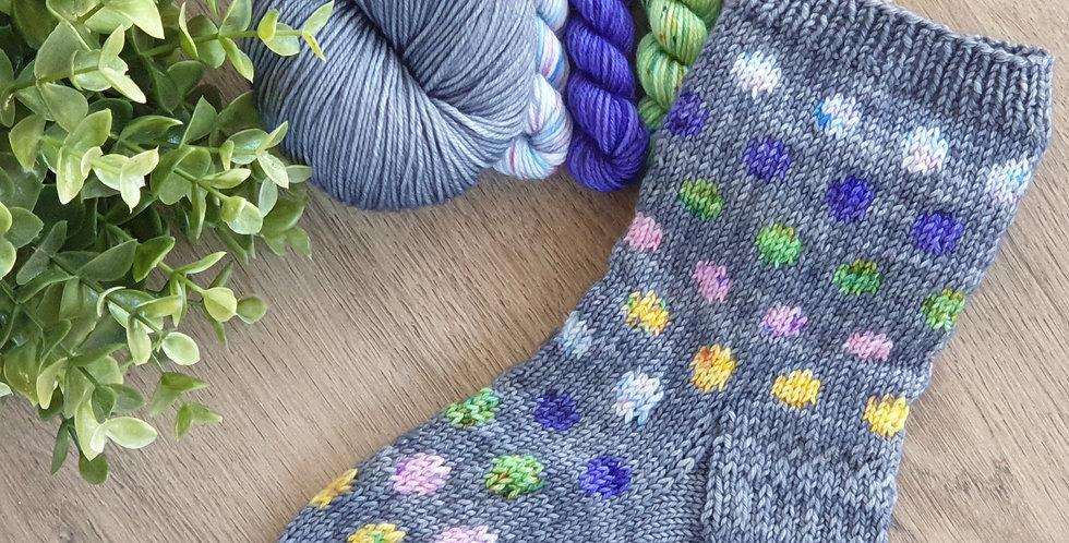 """Pippi Longstocking"" sock set with pattern"