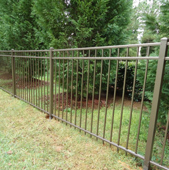 3 Rail Light Bronze Aluminum Fence