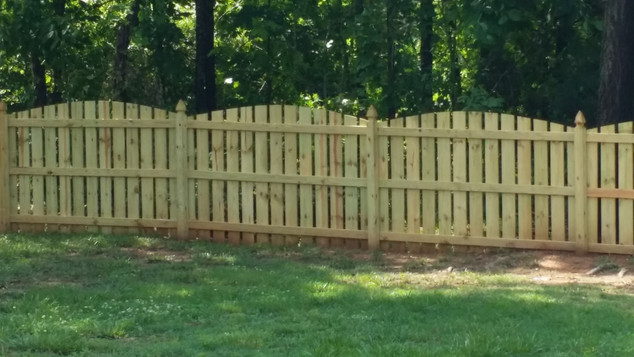 Arched Space Picket Fence
