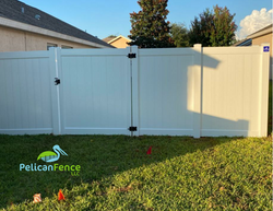 White Privacy Vinyl with Single Flat Gate 3671