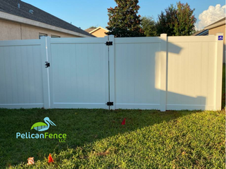 White Privacy Vinyl with Single Flat Gate 3671.png