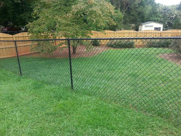 Black Vinyl Chain Link Residential Fence