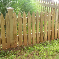 Spear Top Wood Space 4 inch picket 4x4 posts