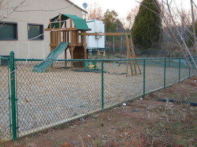 Chain Link Residential Green Vinyl Coated Fence