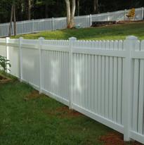 White Vinyl Space Picket Fence
