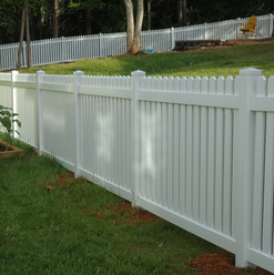 White Vinyl Space Picket Fence