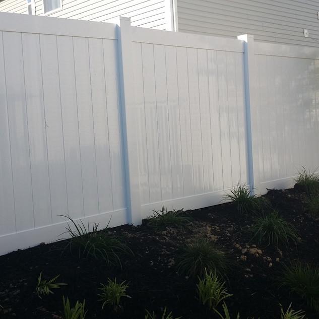 White Privacy Vinyl Fence