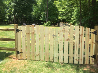 Double Arched Picket Gate