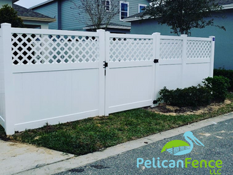 2 Foot Lattice Top White Vinyl Privacy Fence