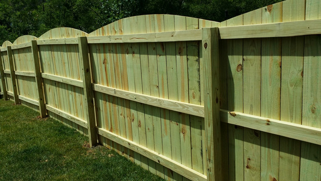 Arched Solid Board Fence