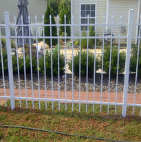 White Aluminum Spear Top Fence