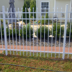White Aluminum Spear Top Fence