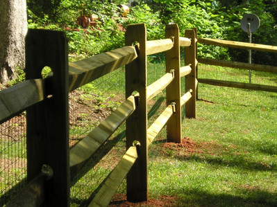 SPLIT RAIL Wood Fence