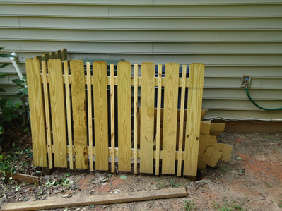Space Picket  Small Slat Garbage Enclosure