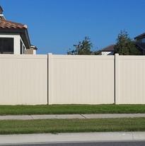 Tan Privacy Vinyl Fence