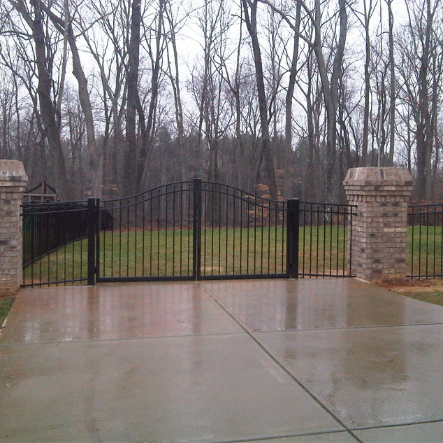 Estate Style Double Gate