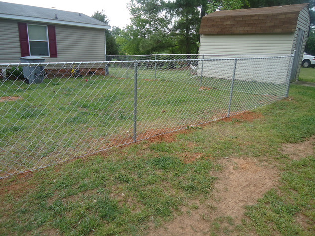Galvanized Chain Link Fence Residential